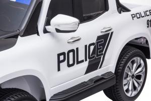 Masinuta electrica 4 x 4 Premier Mercedes X-Class Police, 12V, roti cauciuc EVA, scaun piele ecologica, alb13