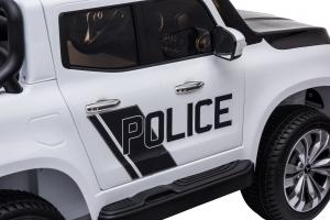 Masinuta electrica 4 x 4 Premier Mercedes X-Class Police, 12V, roti cauciuc EVA, scaun piele ecologica, alb17