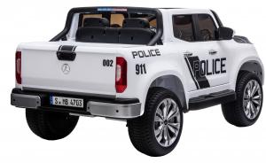Masinuta electrica 4 x 4 Premier Mercedes X-Class Police, 12V, roti cauciuc EVA, scaun piele ecologica, alb6