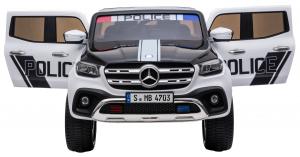 Masinuta electrica 4 x 4 Premier Mercedes X-Class Police, 12V, roti cauciuc EVA, scaun piele ecologica, alb8