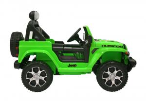 Masinuta electrica 4x4 Premier Jeep Wrangler Rubicon, 12V, roti cauciuc EVA, scaun piele ecologica, verde2