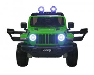 Masinuta electrica 4x4 Premier Jeep Wrangler Rubicon, 12V, roti cauciuc EVA, scaun piele ecologica, verde1
