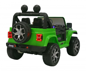 Masinuta electrica 4x4 Premier Jeep Wrangler Rubicon, 12V, roti cauciuc EVA, scaun piele ecologica, verde4