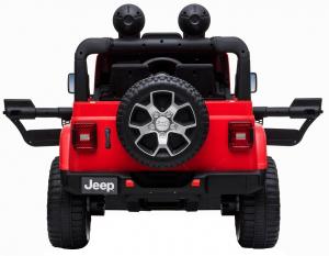 Masinuta electrica 4x4 Premier Jeep Wrangler Rubicon, 12V, roti cauciuc EVA, scaun piele ecologica, rosu [3]