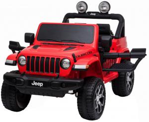 Masinuta electrica 4x4 Premier Jeep Wrangler Rubicon, 12V, roti cauciuc EVA, scaun piele ecologica, rosu [5]