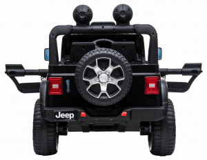Masinuta electrica 4x4 Premier Jeep Wrangler Rubicon, 12V, roti cauciuc EVA, scaun piele ecologica, negru [3]