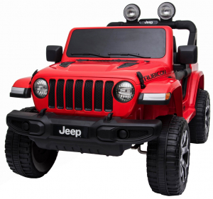 Masinuta electrica 4x4 Premier Jeep Wrangler Rubicon, 12V, roti cauciuc EVA, scaun piele ecologica, rosu [6]