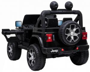 Masinuta electrica 4x4 Premier Jeep Wrangler Rubicon, 12V, roti cauciuc EVA, scaun piele ecologica, negru [4]