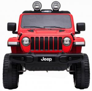 Masinuta electrica 4x4 Premier Jeep Wrangler Rubicon, 12V, roti cauciuc EVA, scaun piele ecologica, rosu [7]