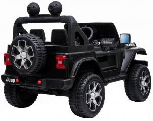 Masinuta electrica 4x4 Premier Jeep Wrangler Rubicon, 12V, roti cauciuc EVA, scaun piele ecologica, negru [6]