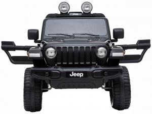 Masinuta electrica 4x4 Premier Jeep Wrangler Rubicon, 12V, roti cauciuc EVA, scaun piele ecologica, negru [7]