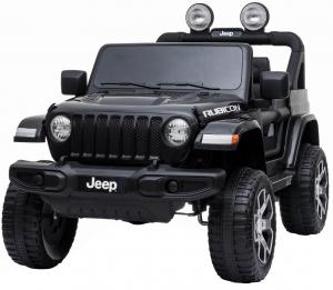 Masinuta electrica 4x4 Premier Jeep Wrangler Rubicon, 12V, roti cauciuc EVA, scaun piele ecologica, negru [0]