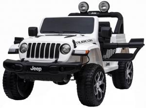 Masinuta electrica 4x4 Premier Jeep Wrangler Rubicon, 12V, roti cauciuc EVA, scaun piele ecologica, alb [2]