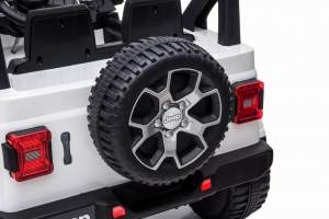 Masinuta electrica 4x4 Premier Jeep Wrangler Rubicon, 12V, roti cauciuc EVA, scaun piele ecologica, alb [3]