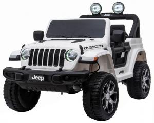 Masinuta electrica 4x4 Premier Jeep Wrangler Rubicon, 12V, roti cauciuc EVA, scaun piele ecologica, alb [0]