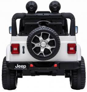 Masinuta electrica 4x4 Premier Jeep Wrangler Rubicon, 12V, roti cauciuc EVA, scaun piele ecologica, alb [5]