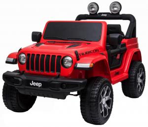 Masinuta electrica 4x4 Premier Jeep Wrangler Rubicon, 12V, roti cauciuc EVA, scaun piele ecologica, rosu [10]