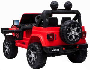 Masinuta electrica 4x4 Premier Jeep Wrangler Rubicon, 12V, roti cauciuc EVA, scaun piele ecologica, rosu [11]