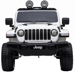 Masinuta electrica 4x4 Premier Jeep Wrangler Rubicon, 12V, roti cauciuc EVA, scaun piele ecologica, alb [7]