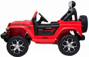 Masinuta electrica 4x4 Premier Jeep Wrangler Rubicon, 12V, roti cauciuc EVA, scaun piele ecologica, rosu [14]