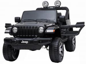 Masinuta electrica 4x4 Premier Jeep Wrangler Rubicon, 12V, roti cauciuc EVA, scaun piele ecologica, negru [8]