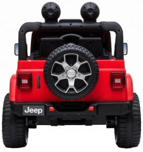 Masinuta electrica 4x4 Premier Jeep Wrangler Rubicon, 12V, roti cauciuc EVA, scaun piele ecologica, rosu [15]