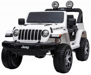 Masinuta electrica 4x4 Premier Jeep Wrangler Rubicon, 12V, roti cauciuc EVA, scaun piele ecologica, alb [9]