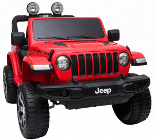 Masinuta electrica 4x4 Premier Jeep Wrangler Rubicon, 12V, roti cauciuc EVA, scaun piele ecologica, rosu [17]