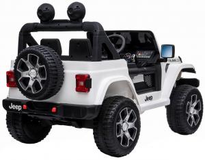 Masinuta electrica 4x4 Premier Jeep Wrangler Rubicon, 12V, roti cauciuc EVA, scaun piele ecologica, alb [10]