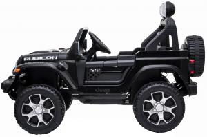 Masinuta electrica 4x4 Premier Jeep Wrangler Rubicon, 12V, roti cauciuc EVA, scaun piele ecologica, negru [9]