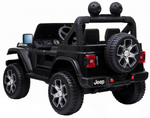 Masinuta electrica 4x4 Premier Jeep Wrangler Rubicon, 12V, roti cauciuc EVA, scaun piele ecologica, negru [10]