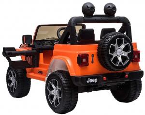 Masinuta electrica 4x4 Premier Jeep Wrangler Rubicon, 12V, roti cauciuc EVA, scaun piele ecologica, portocaliu [6]