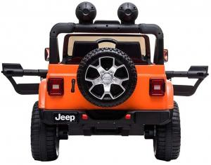 Masinuta electrica 4x4 Premier Jeep Wrangler Rubicon, 12V, roti cauciuc EVA, scaun piele ecologica, portocaliu [8]