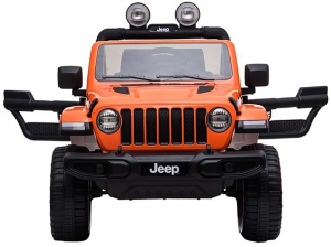 Masinuta electrica 4x4 Premier Jeep Wrangler Rubicon, 12V, roti cauciuc EVA, scaun piele ecologica, portocaliu [13]