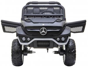 Masinuta electrica 4x4 Premier Mercedes Unimog, 12V, roti cauciuc EVA, scaun piele ecologica11