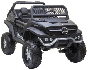 Masinuta electrica 4x4 Premier Mercedes Unimog, 12V, roti cauciuc EVA, scaun piele ecologica10
