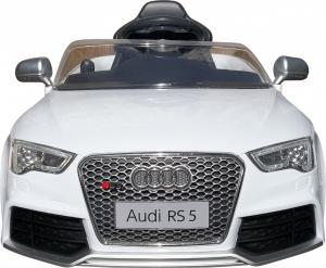 Masinuta electrica Premier Audi RS5, 12V, roti cauciuc EVA, scaun piele ecologica, alba [2]