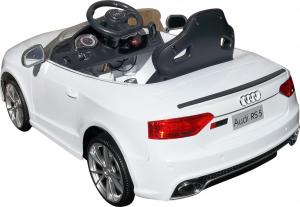 Masinuta electrica Premier Audi RS5, 12V, roti cauciuc EVA, scaun piele ecologica, alba [4]