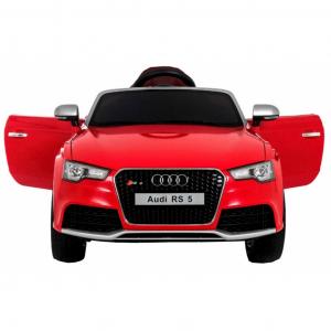 Masinuta electrica Premier Audi RS5, 12V, roti cauciuc EVA, scaun piele ecologica, rosie1