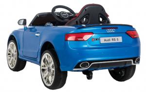 Masinuta electrica Premier Audi RS5, 12V, roti cauciuc EVA, scaun piele ecologica, albastra [2]