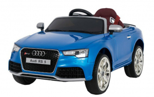 Masinuta electrica Premier Audi RS5, 12V, roti cauciuc EVA, scaun piele ecologica, albastra [0]