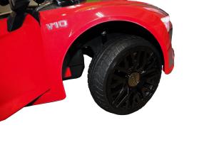 Masinuta electrica Premier Audi R8 Spyder, 12V, roti cauciuc EVA, scaun piele ecologica, rosie14