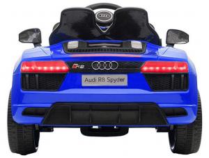 Masinuta electrica Premier Audi R8 Spyder, 12V, roti cauciuc EVA, scaun piele ecologica, albastra [1]