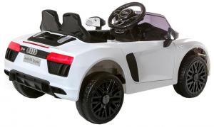 Masinuta electrica Premier Audi R8 Spyder, 12V, roti cauciuc EVA, scaun piele ecologica, alba [6]