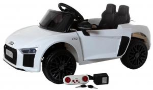 Masinuta electrica Premier Audi R8 Spyder, 12V, roti cauciuc EVA, scaun piele ecologica, alba [7]