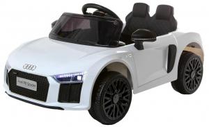 Masinuta electrica Premier Audi R8 Spyder, 12V, roti cauciuc EVA, scaun piele ecologica, alba [0]