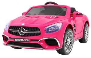 Masinuta electrica Premier Mercedes SL65 AMG, 12V, roti cauciuc EVA, scaun piele ecologica0