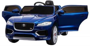 Masinuta electrica Premier Jaguar F-Pace, 12V, roti cauciuc EVA, scaun piele ecologica, albastra7