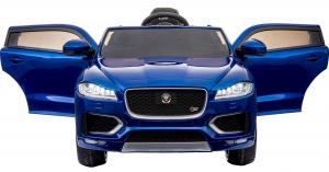 Masinuta electrica Premier Jaguar F-Pace, 12V, roti cauciuc EVA, scaun piele ecologica, albastra3
