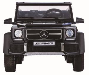 Masinuta electrica Mercedes G63 Duet 6x6, 12V, 6 roti cauciuc EVA, 6 motoare, 2 locuri, scaun piele ecologica, negru2